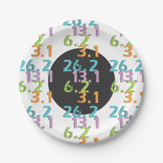 runner distances 5k 10k 13.1 26.2 Party Supplies Paper Plate