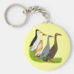 Runner Duck Assortment Basic Round Button Keychain