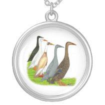 Runner Duck Assortment Silver Plated Necklace