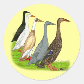 Runner Duck Assortment Round Stickers