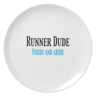 Runner Dude:  Stride and Abide Party Plate