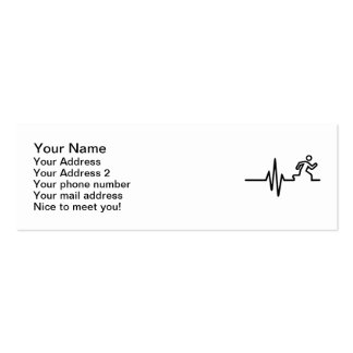Runner frequency Double-Sided mini business cards (Pack of 20)
