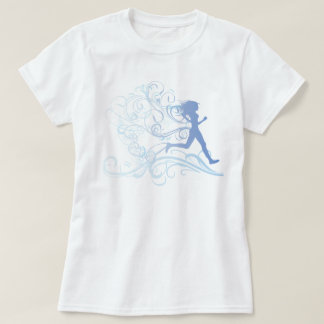 Runner Girl Blue T-Shirt