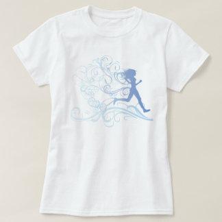Runner Girl Blue T-shirt
