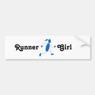 Runner Girl Bumper Sticker