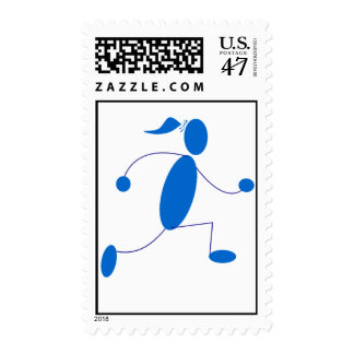 Runner Girl Stamps