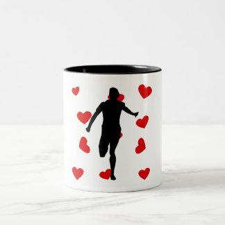 Runner Hearts Mug