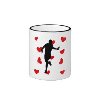 Runner Hearts Coffee Mugs