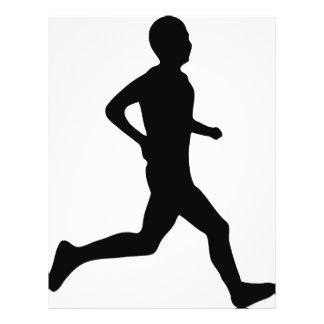 runner icon full color flyer