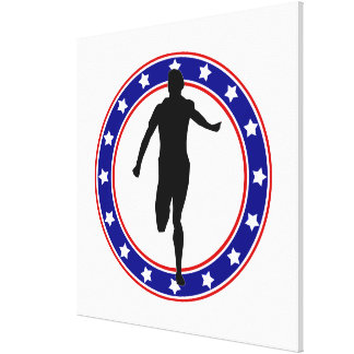 Runner in Circle of Stars Canvas Print