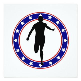 Runner in Circle of Stars Card