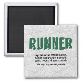 Runner Ingredients 2 Inch Square Magnet