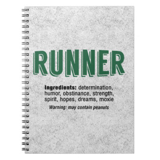 Runner Ingredients Spiral Note Books