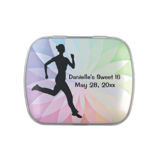 Runner Jogger Design Party Favor Jelly Belly Candy Tins