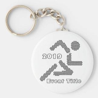Runner Jogger Sport-lover Custom Text & Color Keychain