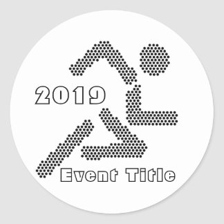 Runner Jogger Sport-lover Custom Text Color Stickers