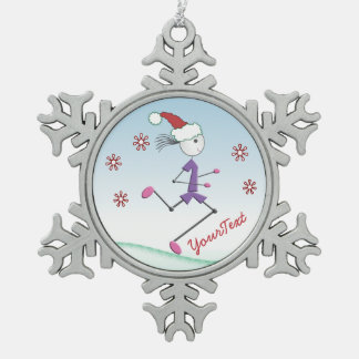Runner Lady © CUSTOMIZE Christmas Holiday Ornament