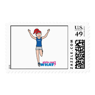 Runner - Light/Red - No Finish Line Postage Stamps