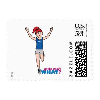 Runner - Light Red - No Finish Line Postage Stamp