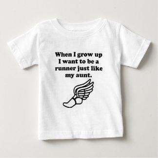 Runner Like My Aunt Baby T-Shirt