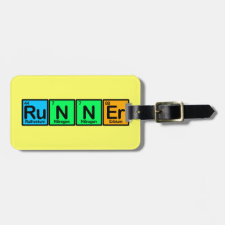 Runner Made of Elements Bag Tag