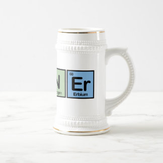 Runner made of Elements Beer Stein