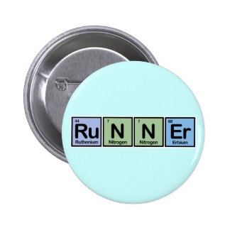 Runner made of Elements 2 Inch Round Button