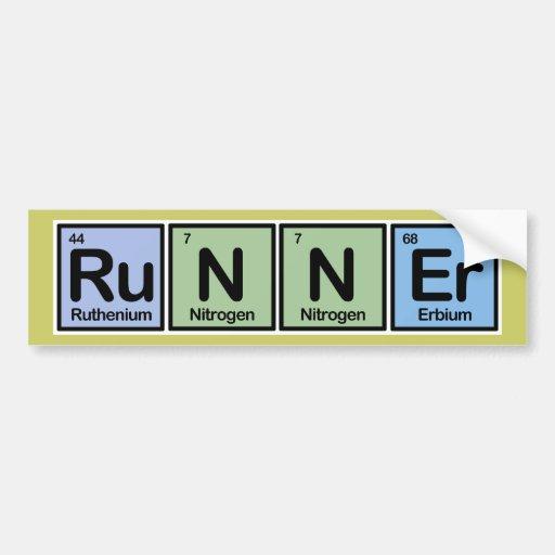 Runner made of Elements Car Bumper Sticker