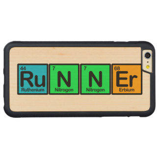Runner Made of Elements Carved Maple iPhone 6 Plus Bumper Case