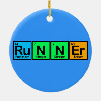Runner Made of Elements Ceramic Ornament