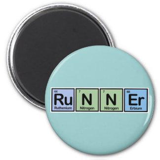 Runner made of Elements Fridge Magnet