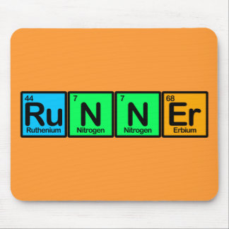 Runner Made of Elements Mouse Pad