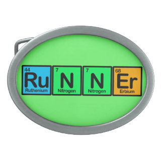 Runner Made of Elements Oval Belt Buckle