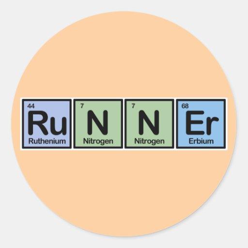 Runner made of Elements Sticker