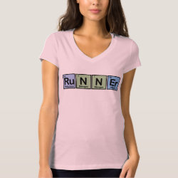 Women's Bella+Canvas Jersey V-Neck T-Shirt with Runner design