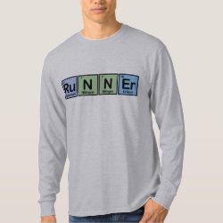 Men's Basic Long Sleeve T-Shirt with Runner design