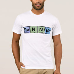 Men's Basic American Apparel T-Shirt with Runner design