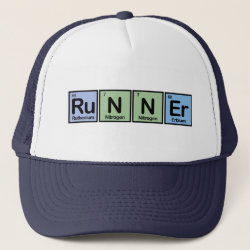Trucker Hat with Runner design