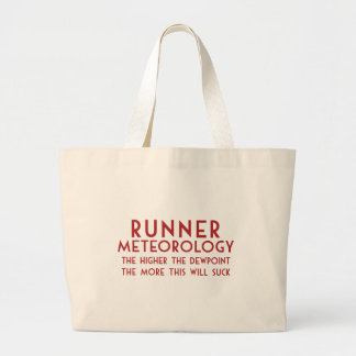 Runner Meteorology Large Tote Bag