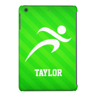 Runner; Neon Green Stripes iPad Mini Retina Cases