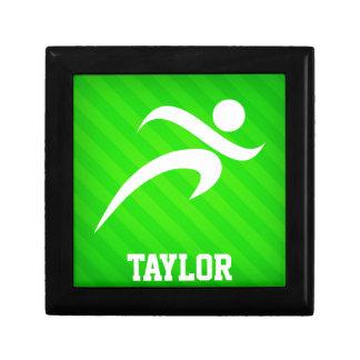 Runner; Neon Green Stripes Gift Boxes
