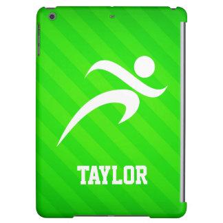 Runner; Neon Green Stripes Case For iPad Air