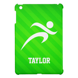 Runner; Neon Green Stripes Case For The iPad Mini