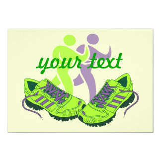 Runner Personalized 5x7 Paper Invitation Card