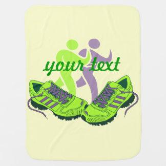 Runner Personalized Baby Blanket