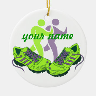 Runner Personalized Ceramic Ornament