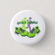 Runner Personalized Name Button