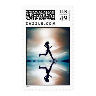 runner postage stamps