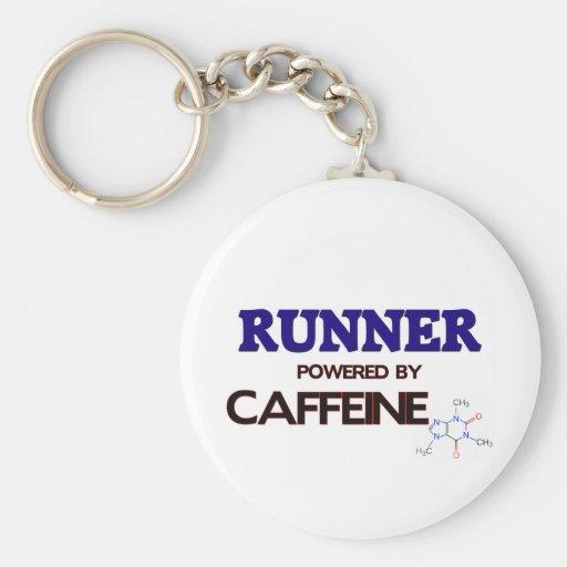 Runner Powered by caffeine Key Chain