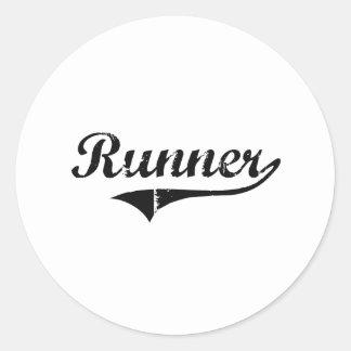 Runner Professional Job Round Sticker